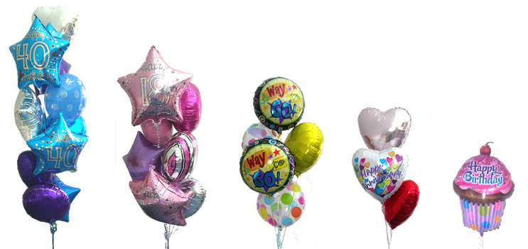selection of balloon bouquets